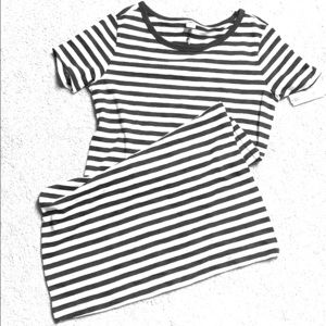 Old navy striped cotton blend t-shirt dress.